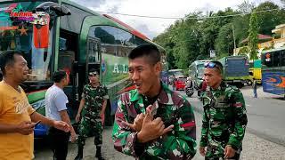 Download lagu SEMUA BISMANIA TURUN KE JALAN !!! 13 UNIT BUS ALS BAWA ROMBONGAN TNI - AD