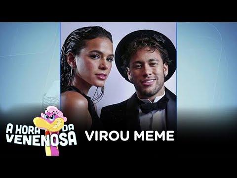 Neymar recebe consolo de Bruna Marquezine após virar piada na web