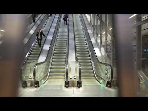 Sweden, Stockholm City train station / Cityterminalen bus exchange, 5X escalator
