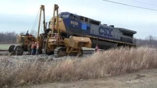 CSX 9028 locomotive has a bad traction motor