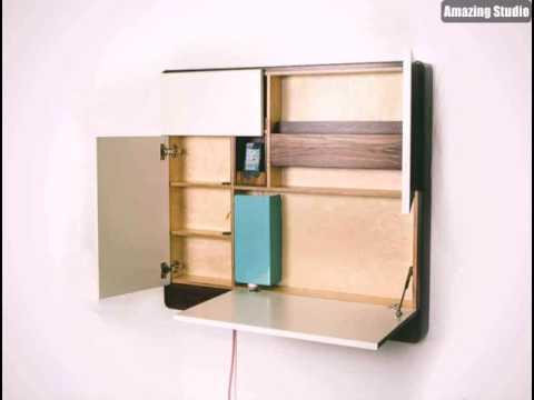 Platzsparende Möbel Cooler Schrank An Der Wand