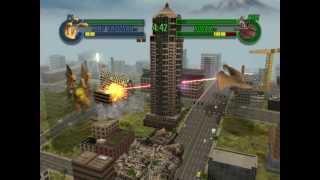 Godzilla Save The Earth Gameplay PS2