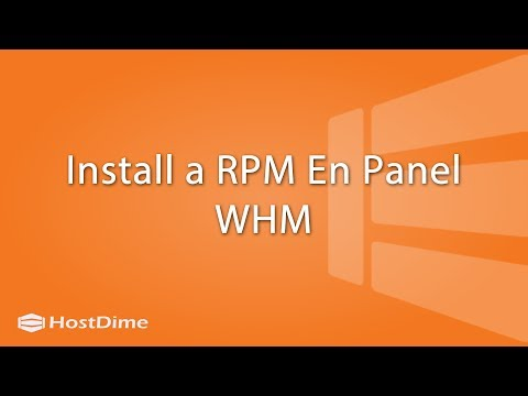 Install an RPM En Panel WHM - Hostdime Colombia