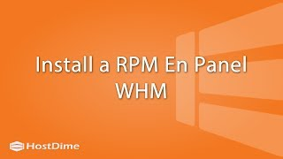 Install an RPM En Panel WHM - Hostdime Colombia