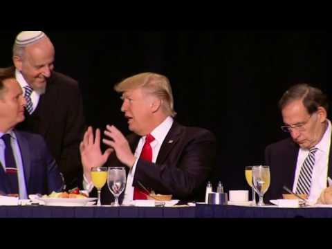 President Trump & Rabbi Lookstein at National Prayer Breakfast