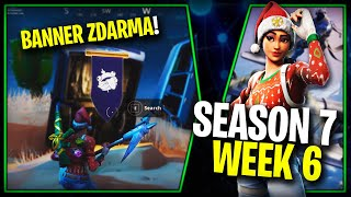 WHERE is the THIRD FREE BANNER for the SEASON 7 (Week 6)-Fortnite Battle Royale CZ/SK