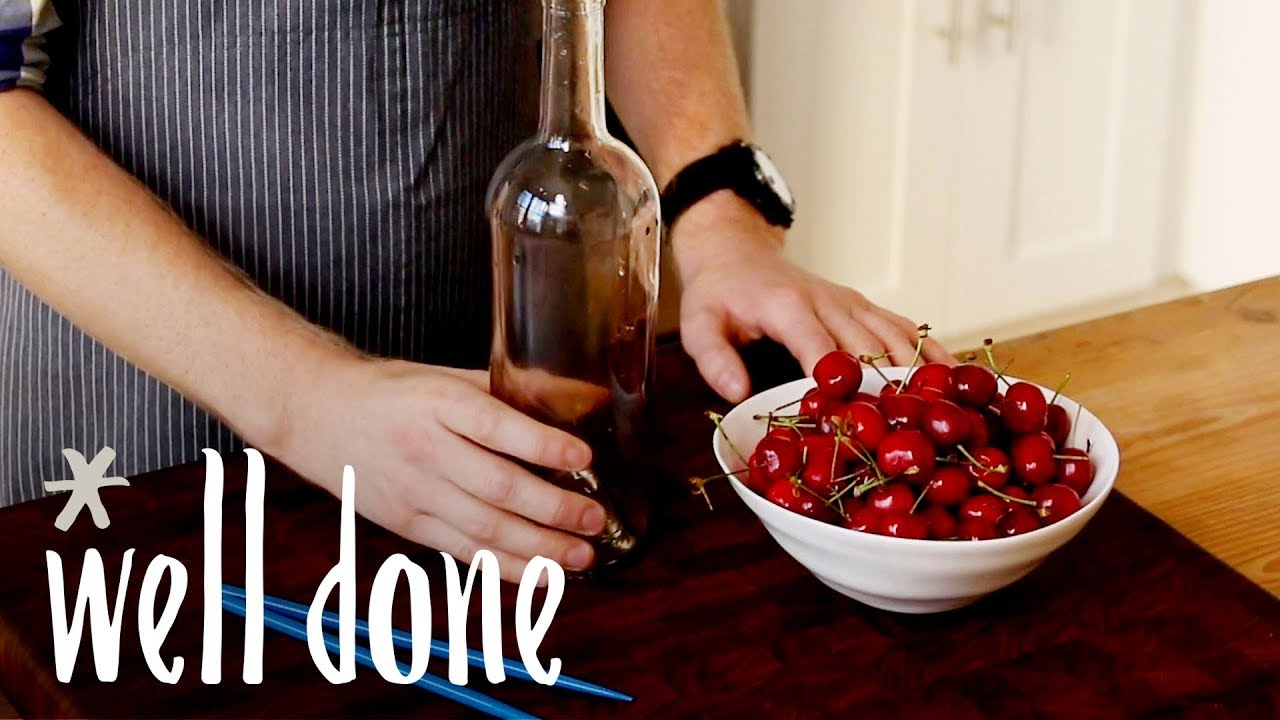 How To Pit Cherries Without A Pitter | Food Hacks | Well Done