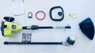 Ryobi Gas Trimmer REVIEW, TUTORIAL, and UNBOX