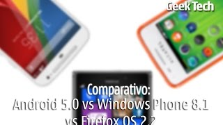 Comparativo: Android 5.0 vs Windows Phone 8.1 vs Firefox OS 2.2 PT-BR