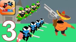 JUMPING NINJA BATTLE - Walkthrough Gameplay Part 3 - SANCHO (Android Games)