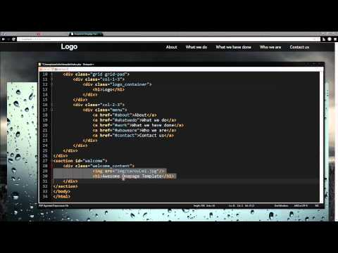 (SPEEDCODING) Onepage Portfolio Part 1: Coding The Layout Of The Template