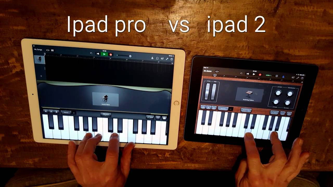 Ipad Pro Vs Ipad 2 Garage Band Youtube