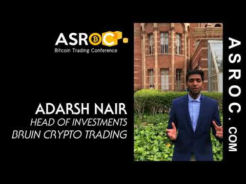 Adarsh Nair from Bruin Crypto Trading on asset backed cryptocurrency at ASROC Conference L.A.