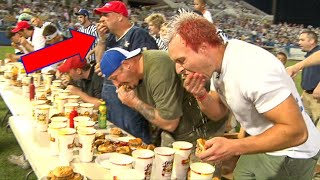 DESTROYING THE BIGGEST CHEATER IN COMPETITIVE EATING (again)