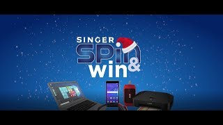 Singer Christmas Spin and Win 2018