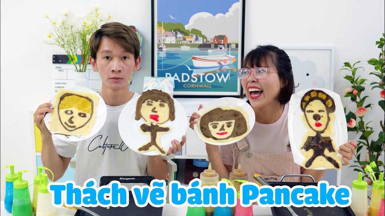 Thử Thách Vẽ Bánh Pancake Hình Chị Thơ Nguyễn