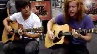 """We The Kings """"Check Yes Juliet"""" Acoustic"""