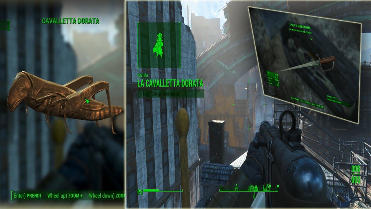 Fallout 4 Gold Grasshopper Secret quest location - YouTube