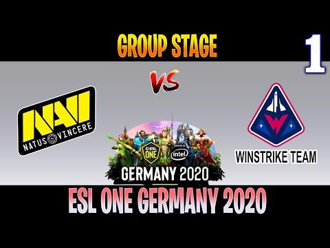 Navi Vs Winstrike Game 1 | Bo3 | Group Stage ESL ONE Germany 2020 | DOTA 2 LIVE