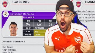 WTF TRADING EVERYTHING FOR CRISTIANO RONALDO!? - FIFA 17 ARSENAL CAREER MODE #05