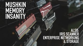 Mushkin Crazy Fast Memory, Iris Scanner, Enterprise Storage Stuff | CES 2015