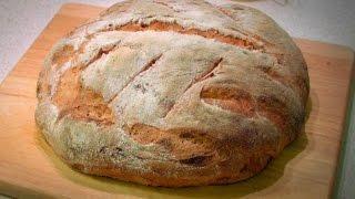 Хлеб из пшеничной и цельнозерновой муки в духовке