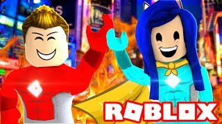 SAVING THE WORLD FROM EVIL! THE BEST HEROES OF ROBLOXIA!