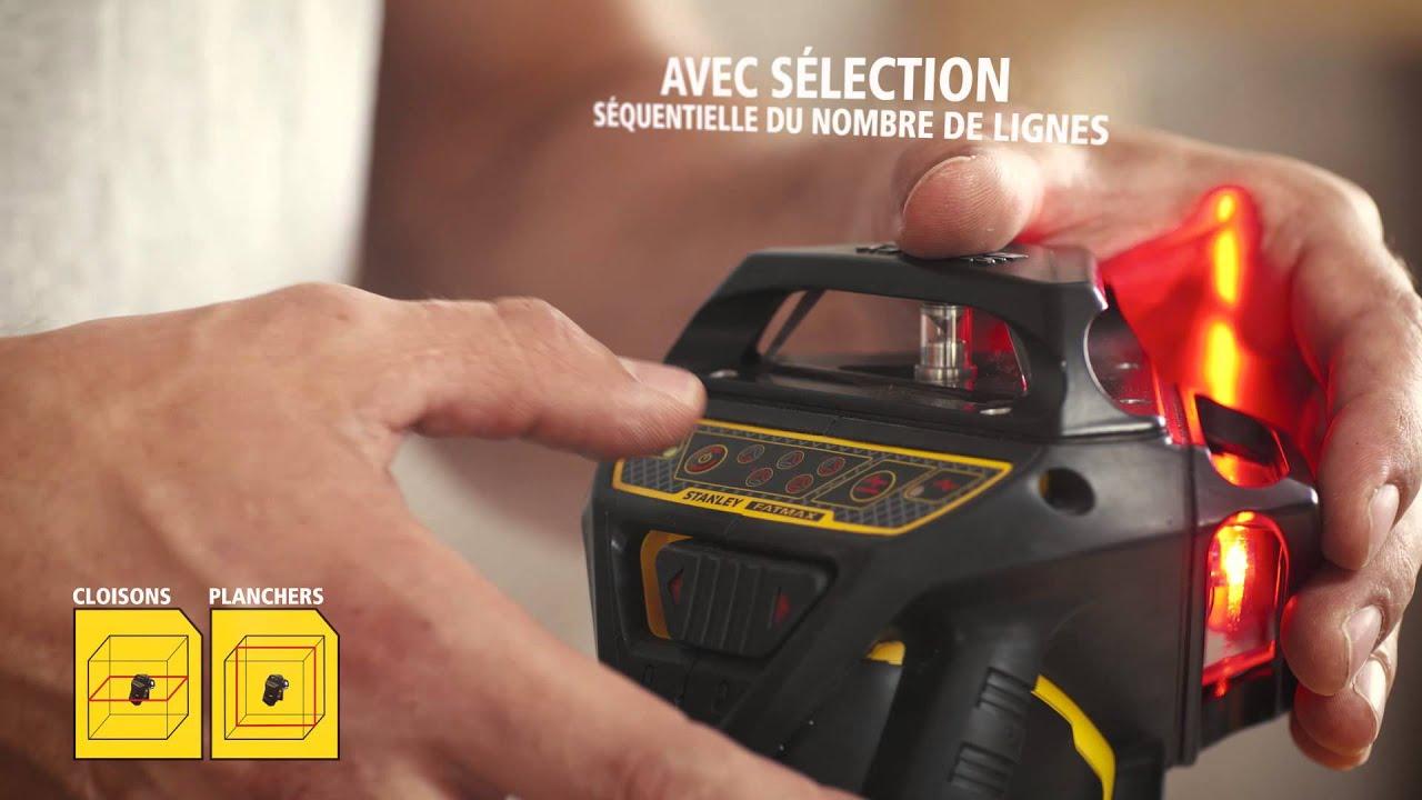 Stanley fatmax x3r niveau laser 3x 360 aux faisceaux for Niveau laser stanley 360