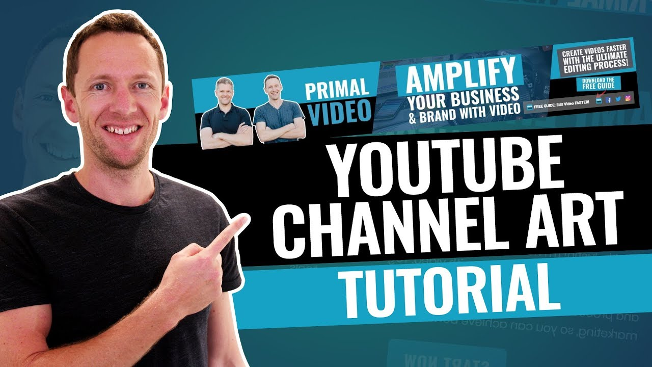 How To Make A Youtube Banner Youtube Channel Art Tutorial Youtube