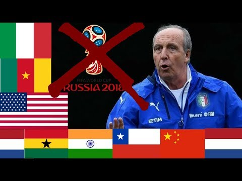 Who Had The Most Disappointing 2018 World Cup Qualifiers Campaign? Italy, USA, Chile & Netherlands!