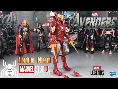 """Marvel Legends 6/"""" scale figure Iron Man Mark VII from 10 Year complete excellent"""