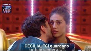 Cecilia Rodriguez in ginocchio dietro la tenda rossa con Ignazio Moser - Gf Vip 2