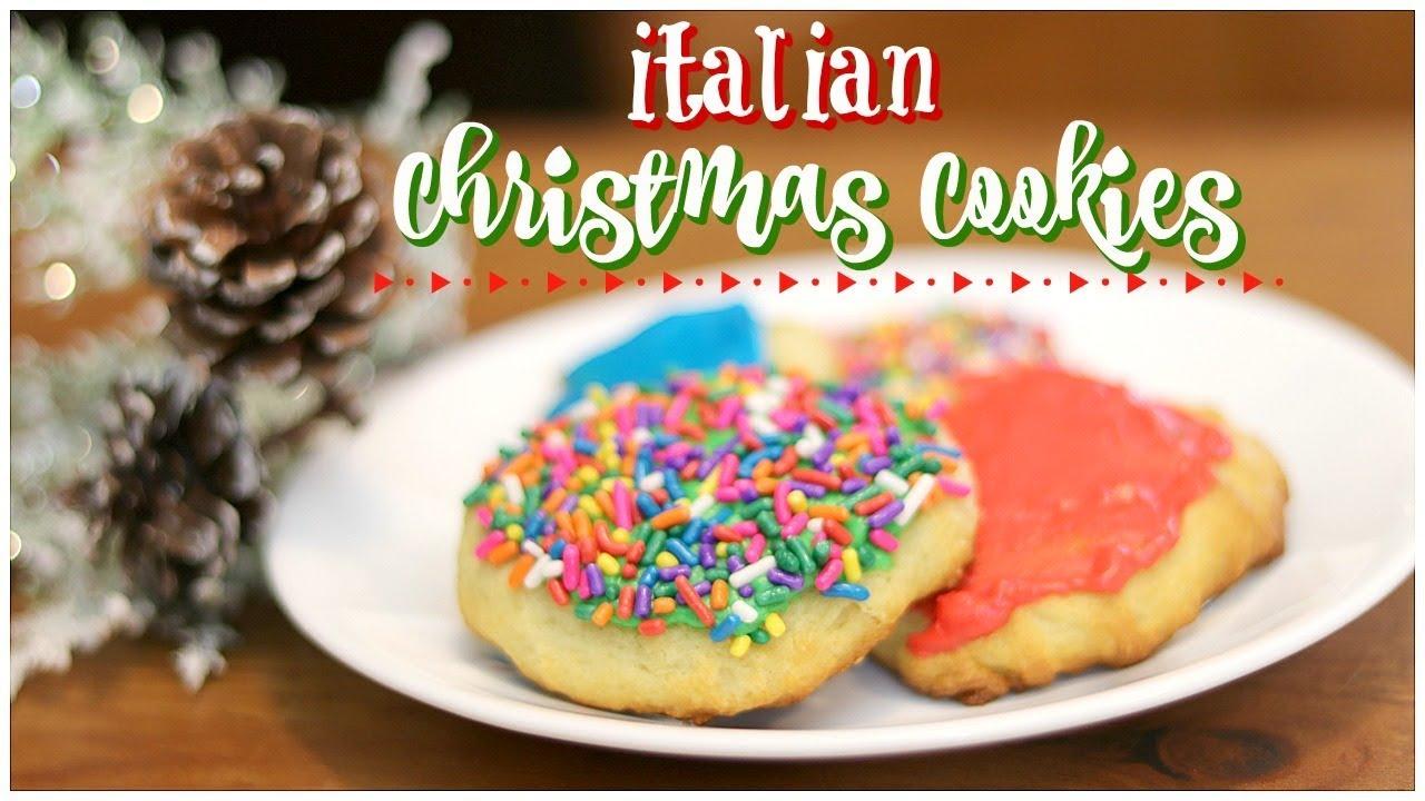 italian christmas cookies christmas cookie recipe bake with me