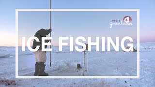 Ice Fishing in Greenland on the Ilulissat Icefjord