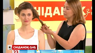 як зробити недбалу укладку на середні волосся