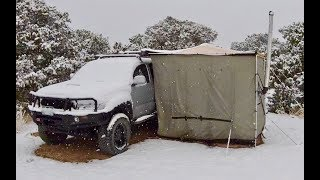 Living in a 4x4 Trขck in Colorado: FINALLY a good snowstorm to start the day!