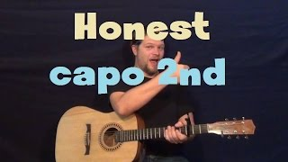 Honest (Future) Easy Strum Guitar Lesson How to Play Tutorial Capo 2nd Fret