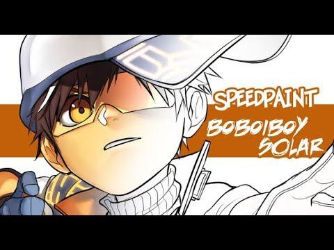 Speedpaint Boboiboy Solar Galaxy Youtube