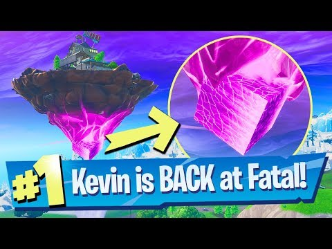 Kevin The Cube (Floating Island) Is BACK At Fatal Fields Gameplay - Fortnite Battle Royale