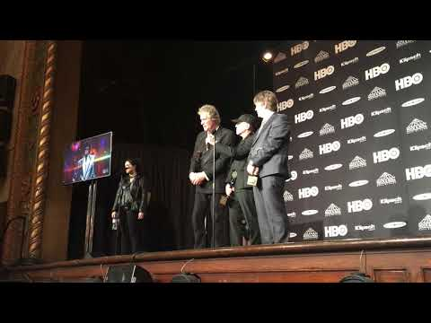 Dire Straits speaks backstage at 2018 Rock Hall inductions