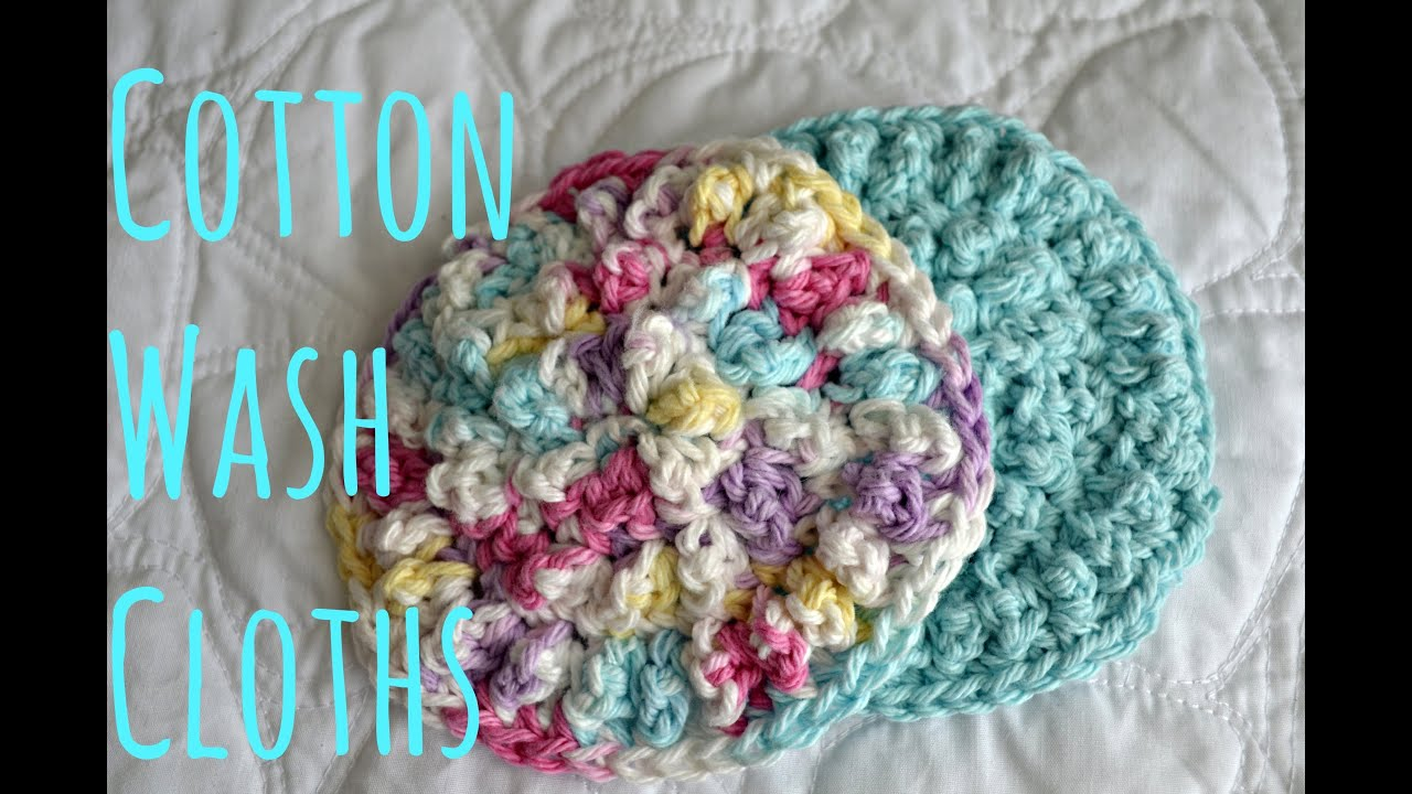 How to Crochet Cotton Washcloth - YouTube