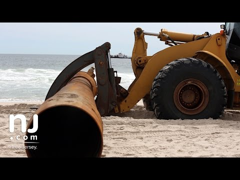 Sand replenishment at Ortley Beach begins