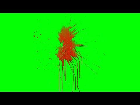 Green Screen Blood Splatter video effects