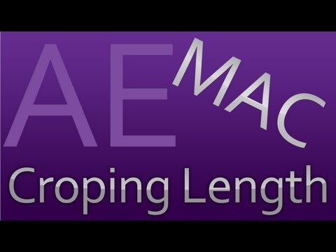 How to Crop/Edit the length of your videos in After Effects