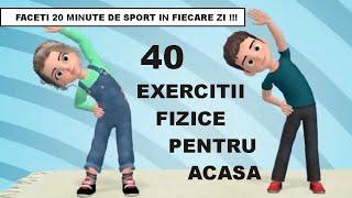 Complex de 40 exercitii fizice ?️ pentru acasa ? Gimnastica pentru copii ? Kids workout