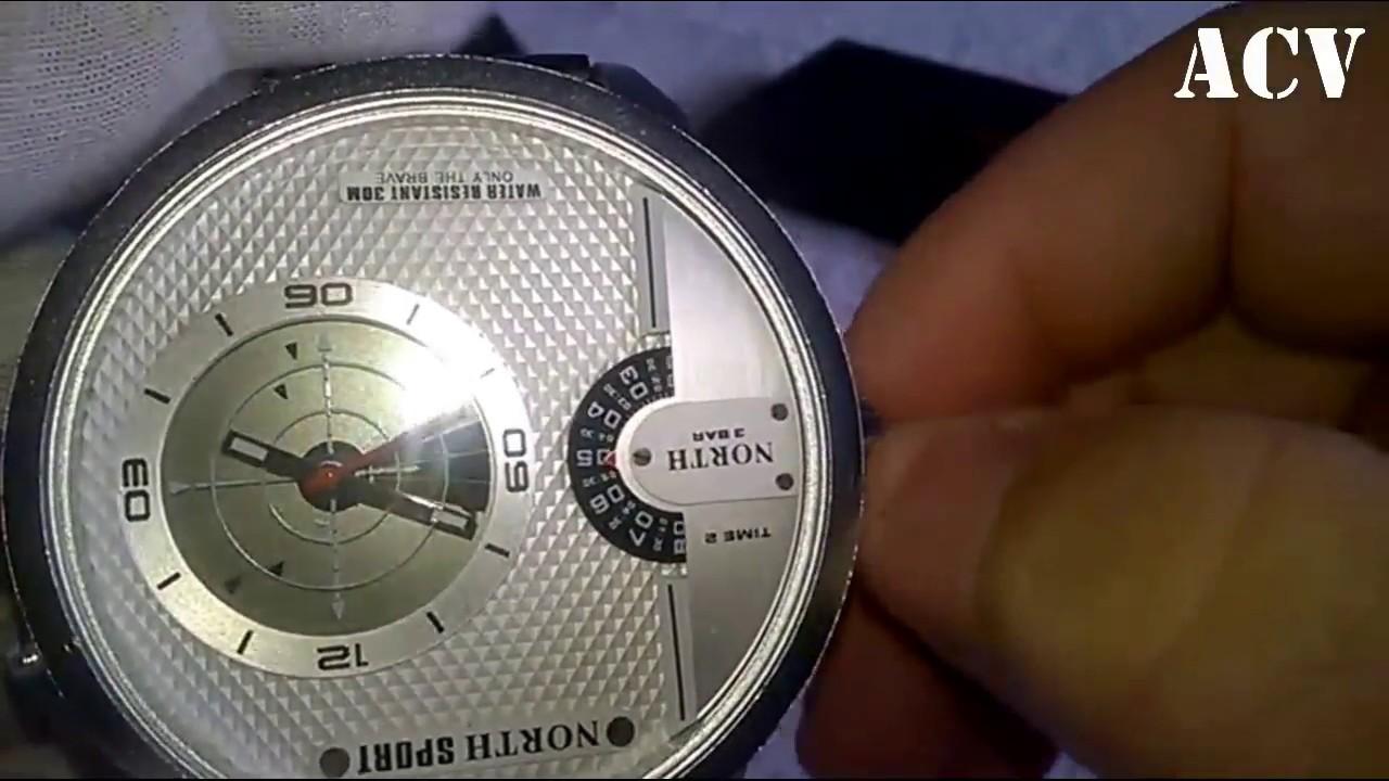b18352485b5c Relógio North 6012 Radar - YouTube