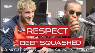 RESPECT! LOGAN PAUL & KSI TALK SQUASHING BEEF AFTER  REMATCH!