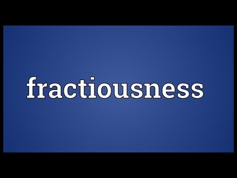 Header of fractiousness
