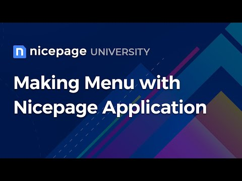 Building A Menu With The Nicepage Application