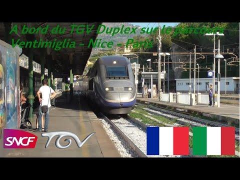 VT#30 - A bord du TGV Duplex sur le parcours Ventimiglia - Nice - Paris